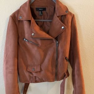 Suede biker jacket